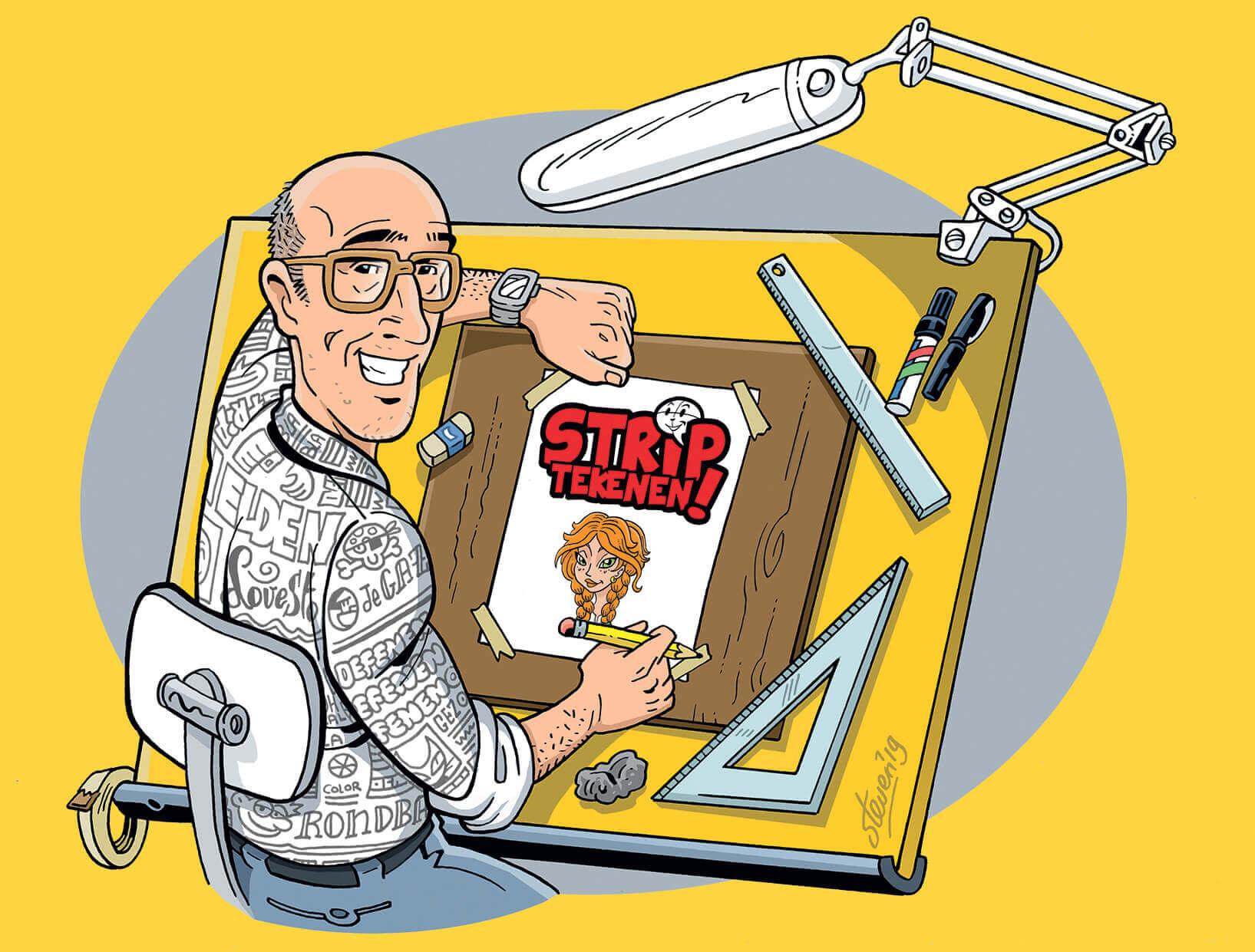 Striptekenen Steven de Rie