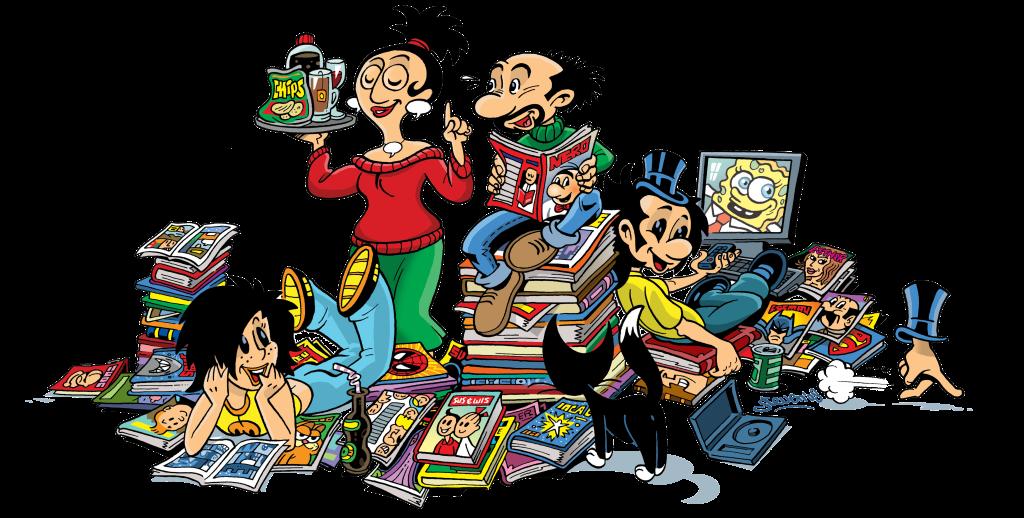 Familie Dust leest