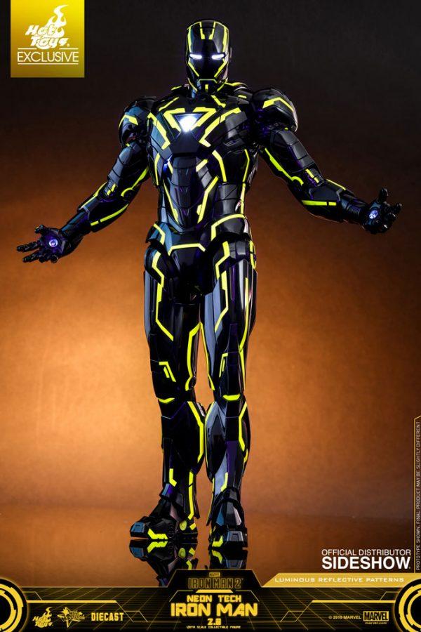 neon tech iron man 20 sixth scale figure marvel gallery 5d0bbd882b1d3
