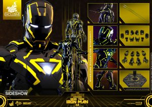 neon tech iron man 20 sixth scale figure marvel gallery 5d0bbd8be9342