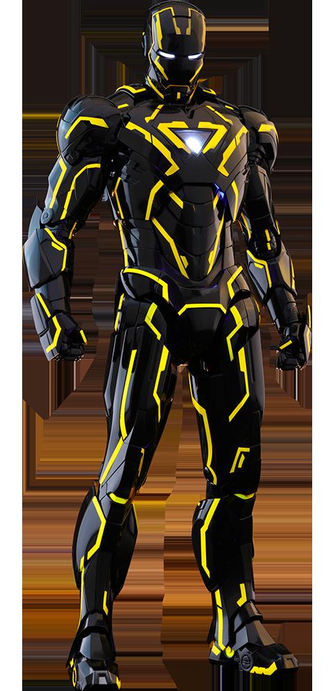 neon tech iron man 20 sixth scale figure marvel silo