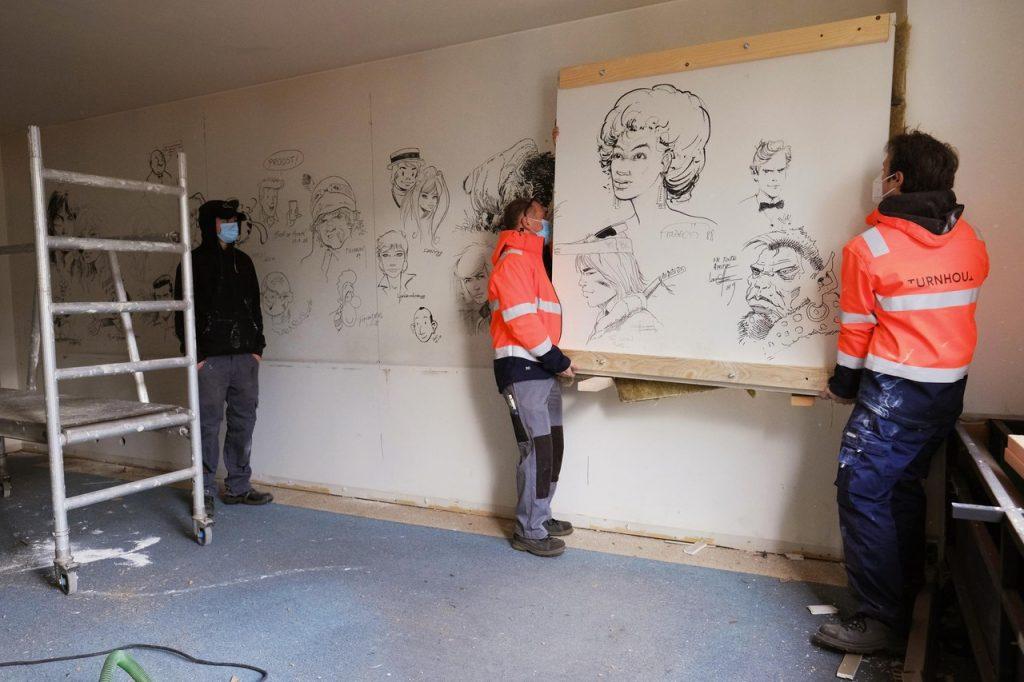 Stripgids en Musea Turnhout redden stripmuren van sloop Proost