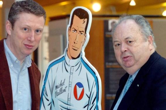 Jean Graton (rechts) met zijn zoon Philippe. Foto: BELGA/AFP