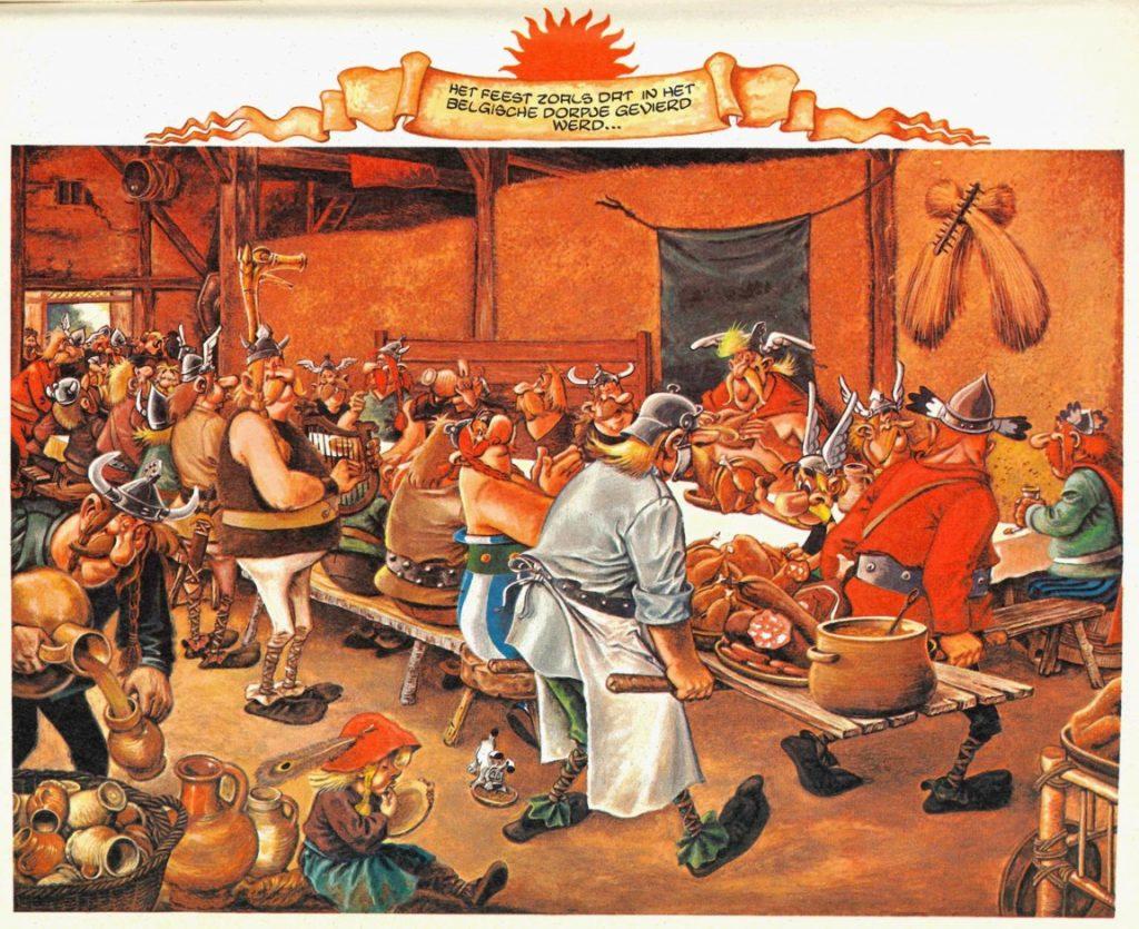 Asterix en de belgen Boerenbruiloft