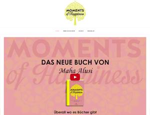 Screenshot of the website onlyhappymoments.de