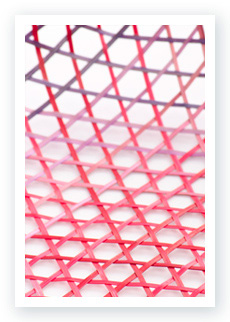 Detailed view of the Gradient Basket in red and purple color pattern