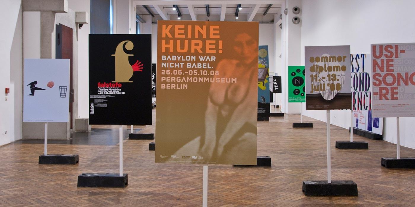 100 Beste Plakate 2008 Exhibition setup at MAK Wien