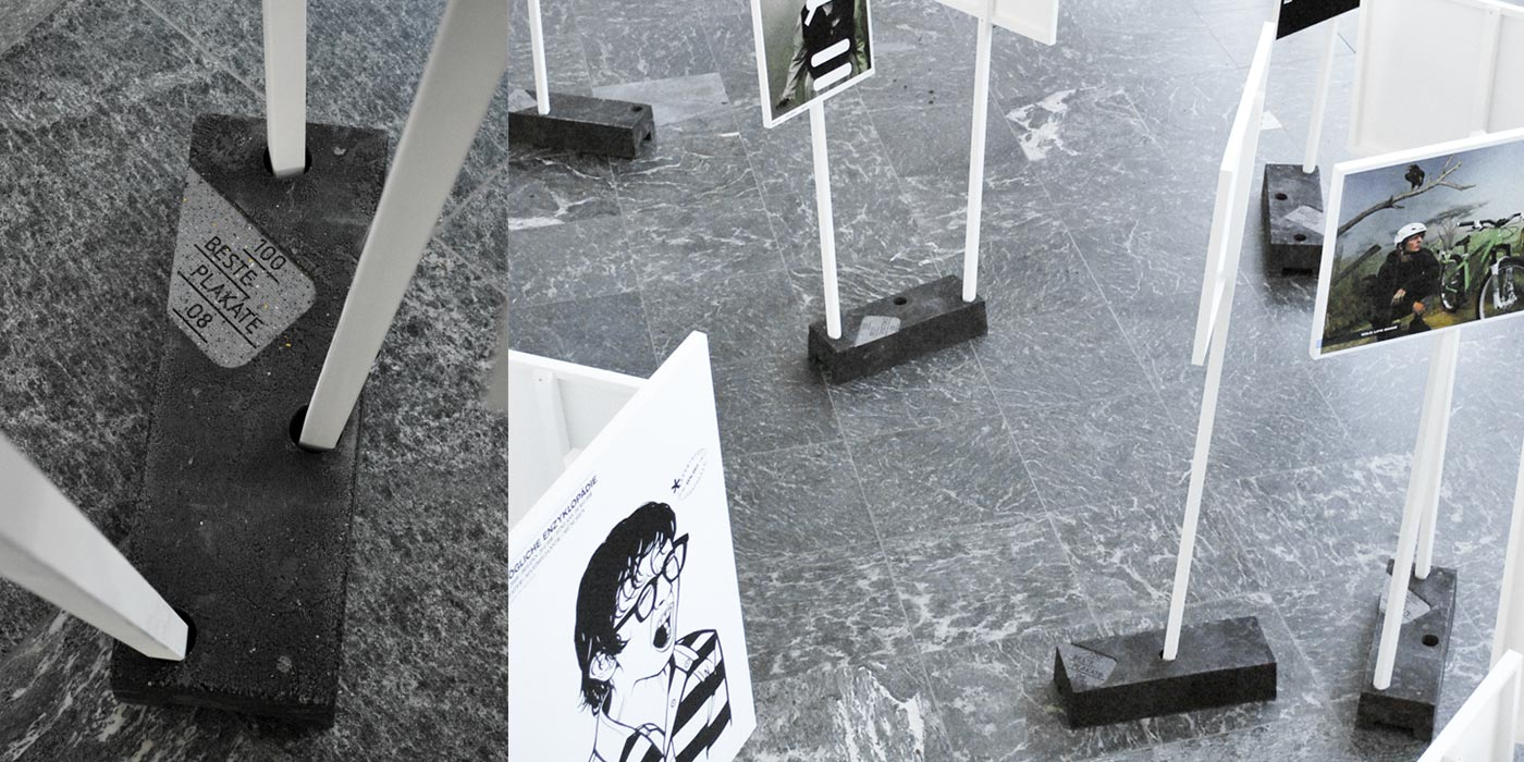 100 Beste Plakate 2008 Exhibition setup at Kulturforum Berlin 02
