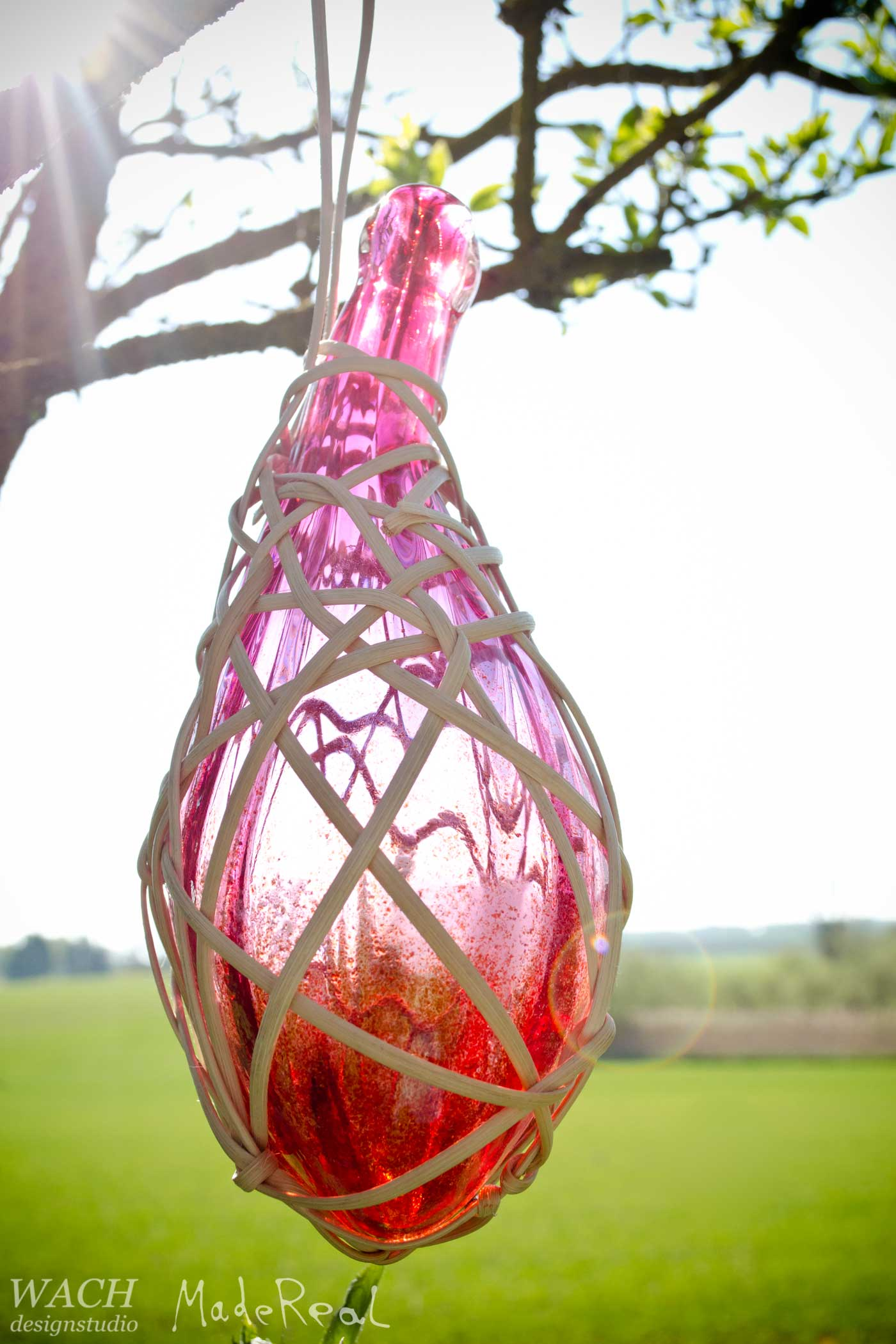 MadeReal Carafe crafted by Elna Jolom with additional weaving by Fred Jacob