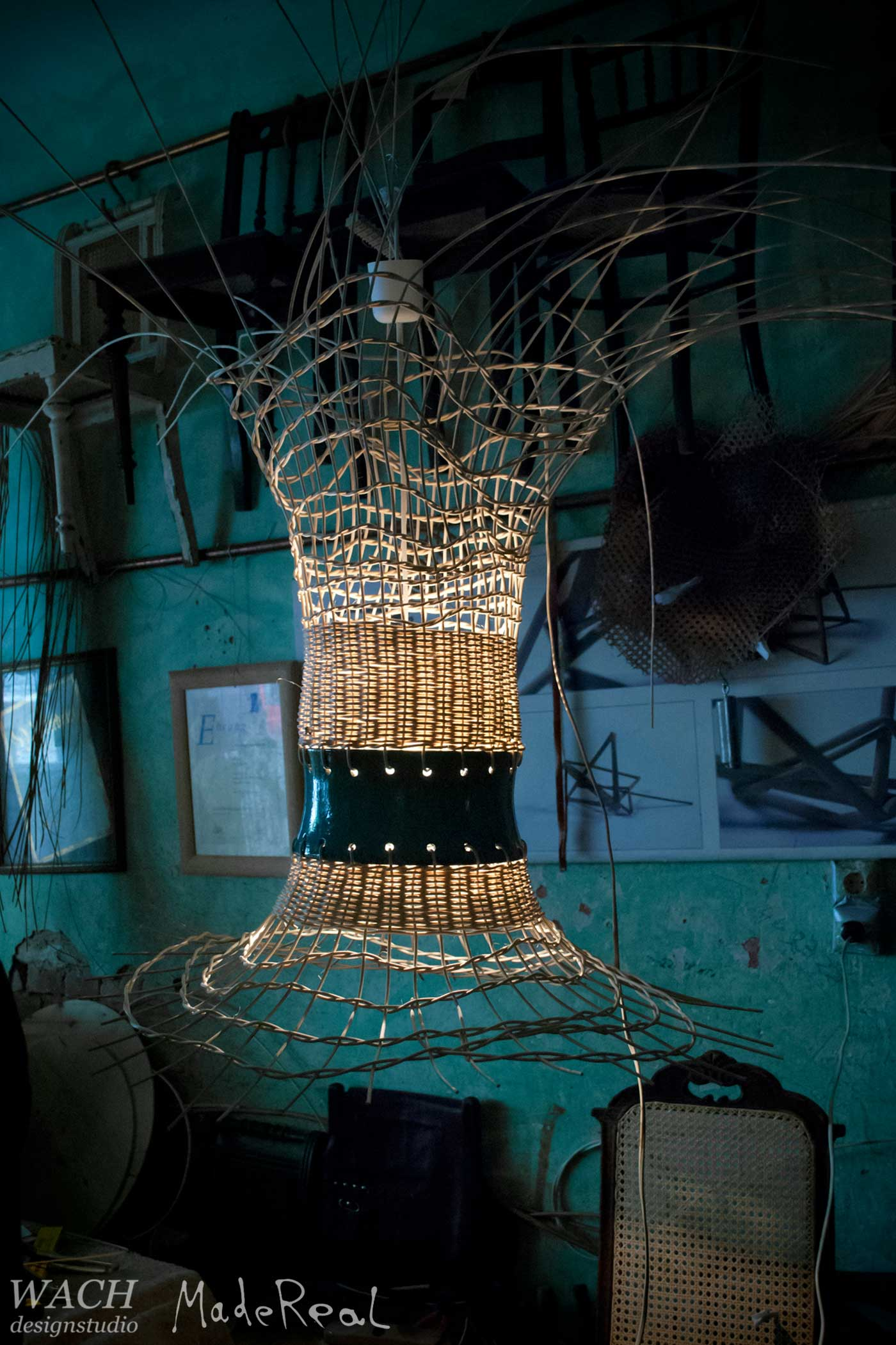 MadeReal Lampa in the studio of Fred Jacob in Berlin