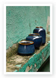 Phuc Duy ceramic vases lined up