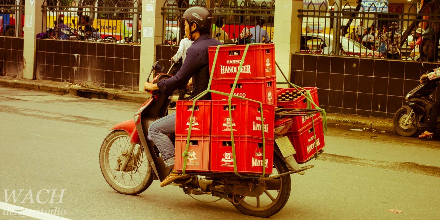Traditional vietnamese transportation motorized