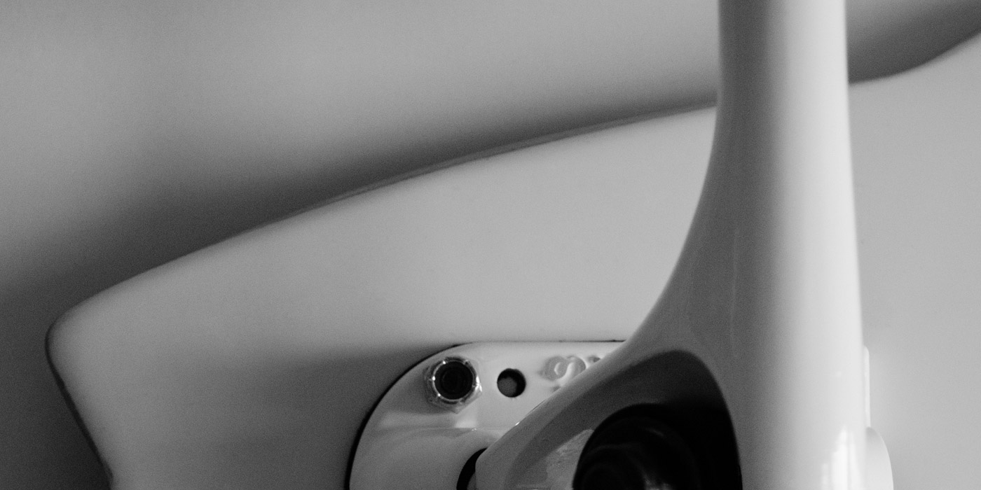 Bottom tail detail of longboard by WACH designstudio