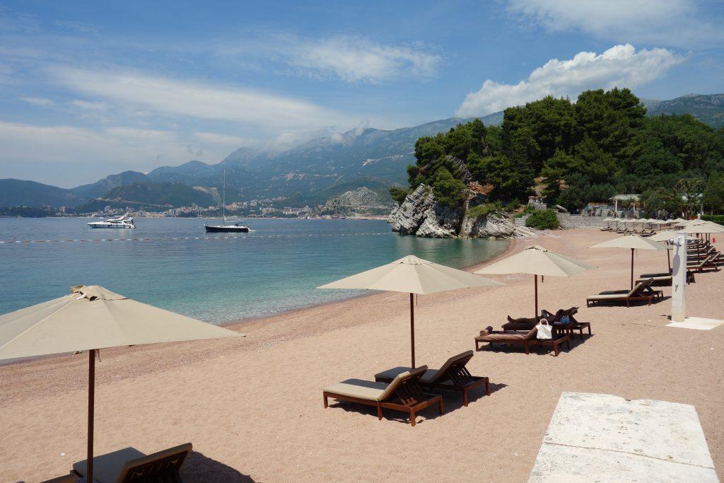 Famous beach in Budva