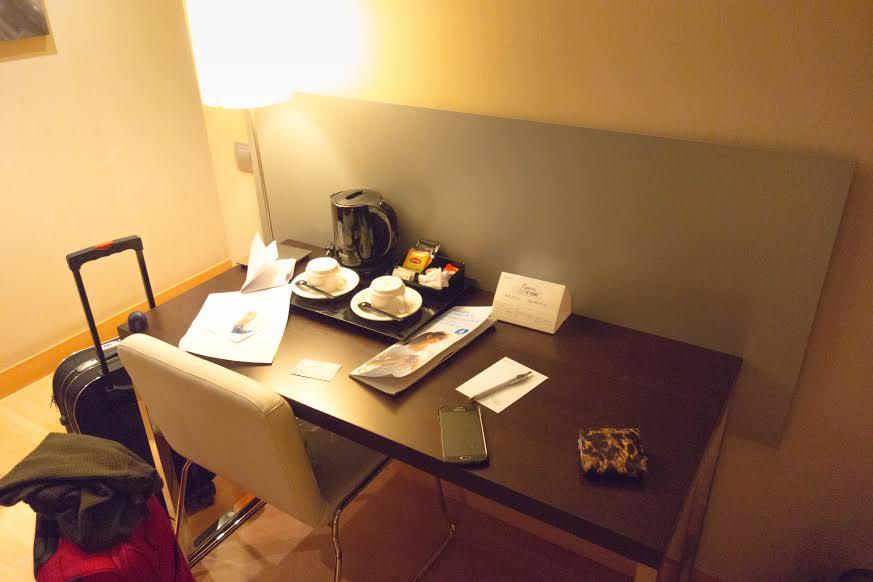 Hotel Ilunion Auditori welkoms tafel