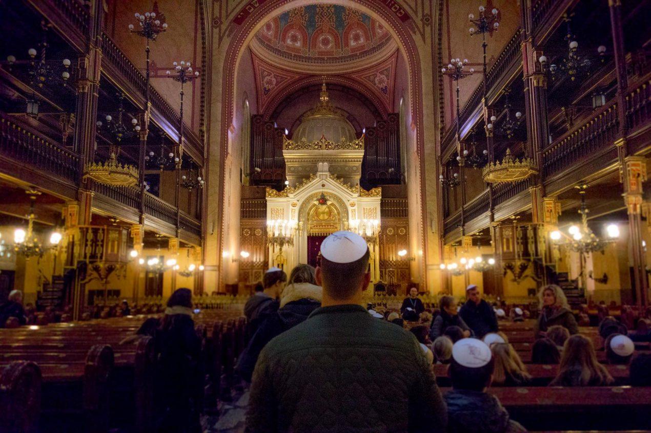 binnenkant Synagoge Boedapest