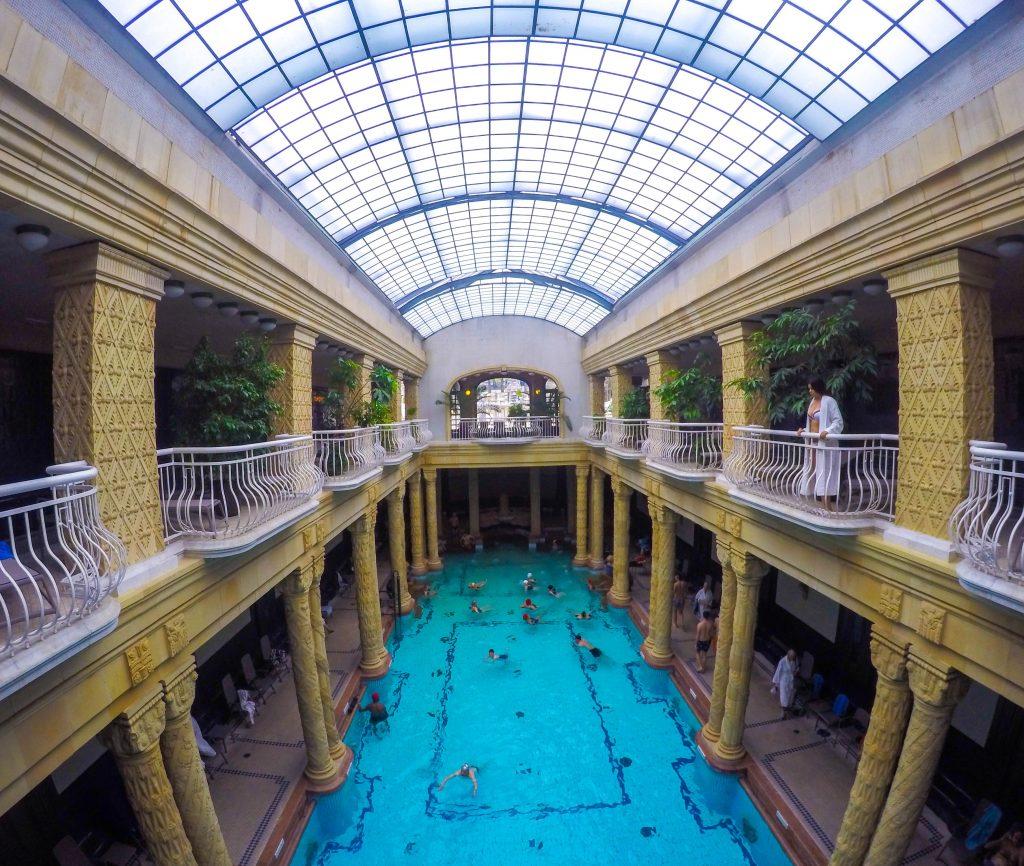 Inside the Gellert spa