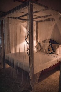 Bed at amal beach hotel