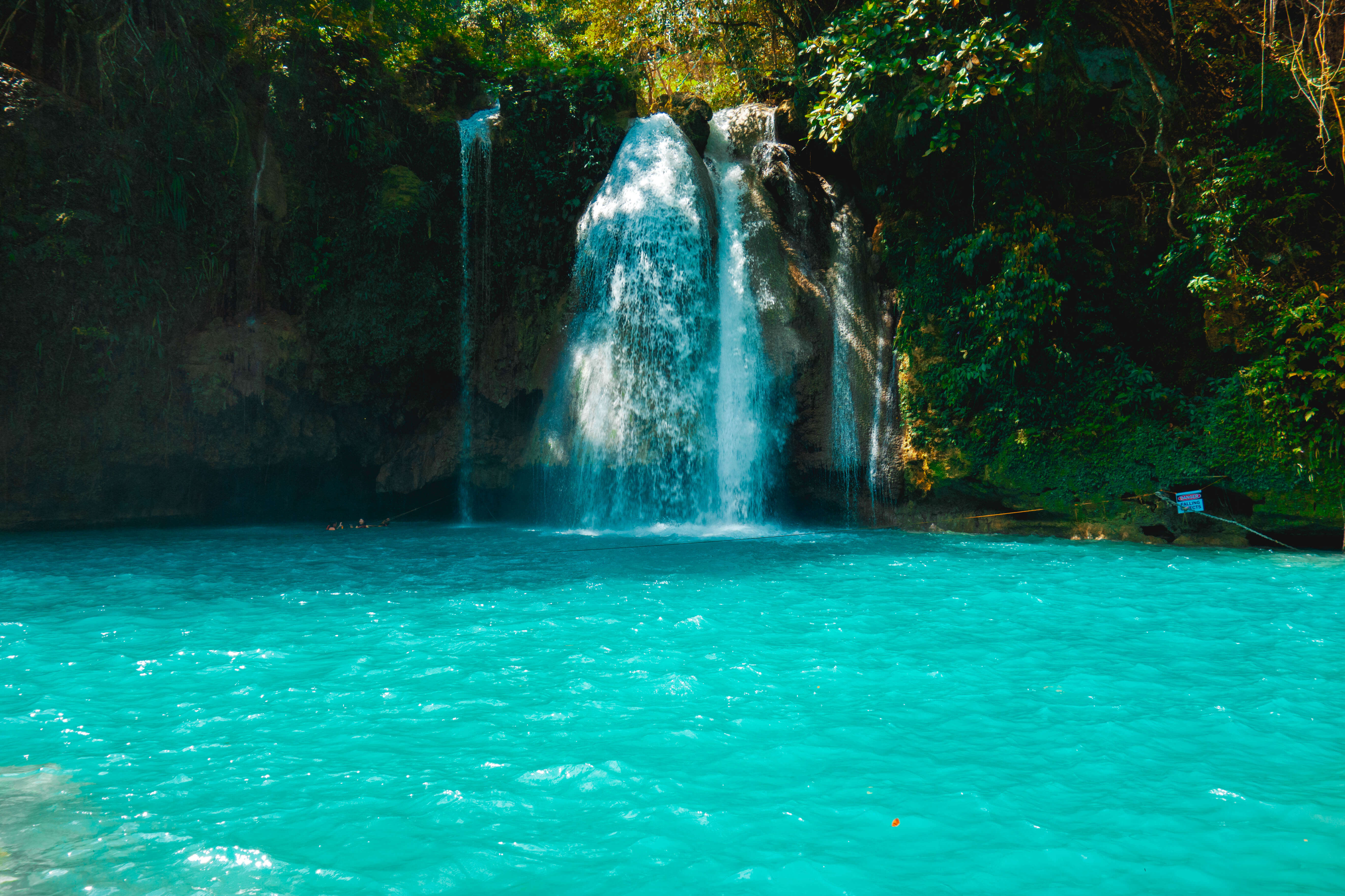 clear blue cascade