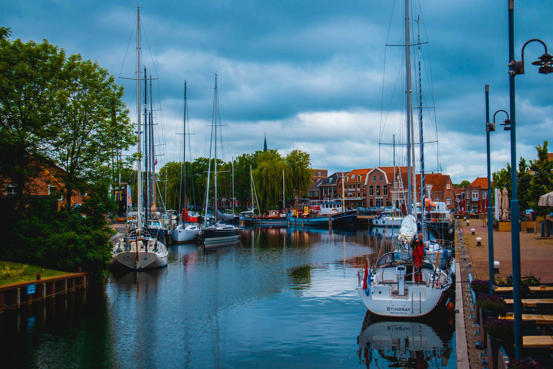 Haven dorp van Enkhuizen Holland