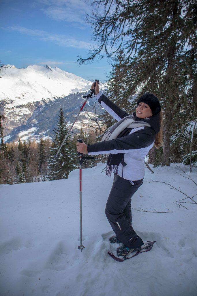snowshoeing les arcs