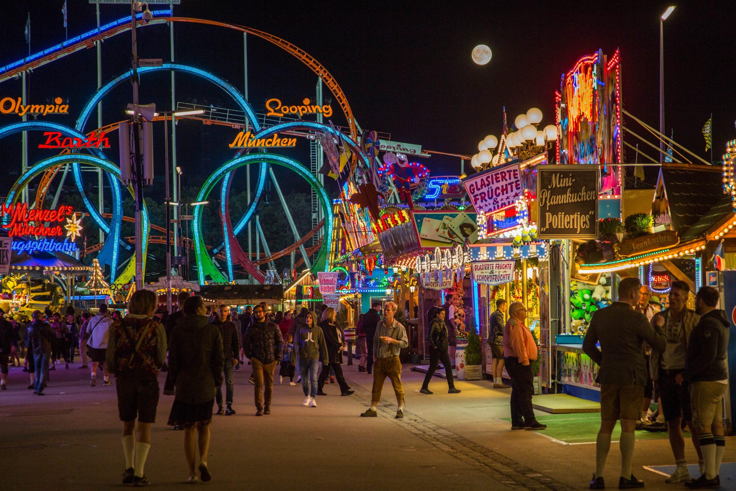 Springfest Munich by night