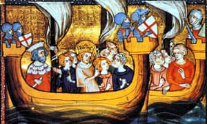 Louis IX en route to Egypt, leading the Seventh Crusade.