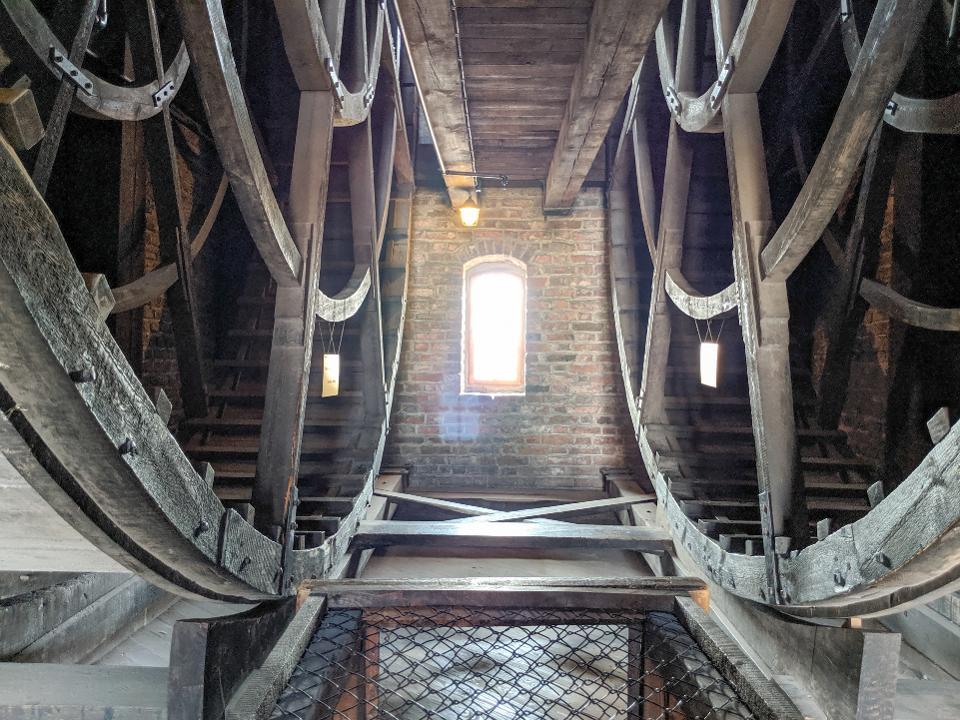 Treadwheels inside the Gdansk Crane