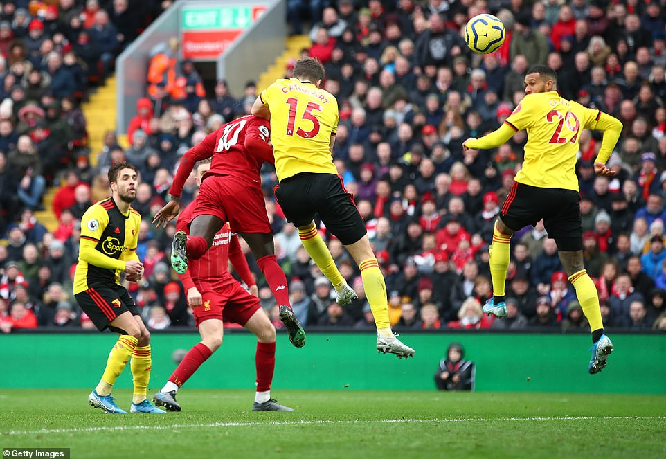 Sadio Mane thought he had scored a second goal for Liverpool but it was ruled out for offside after VAR was consulted