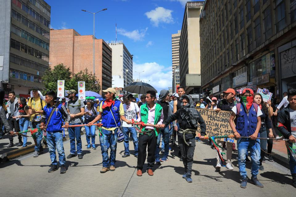 Indigenous protests in Colombia
