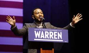 John Legend stumps for Elizabeth Warren in Charleston.