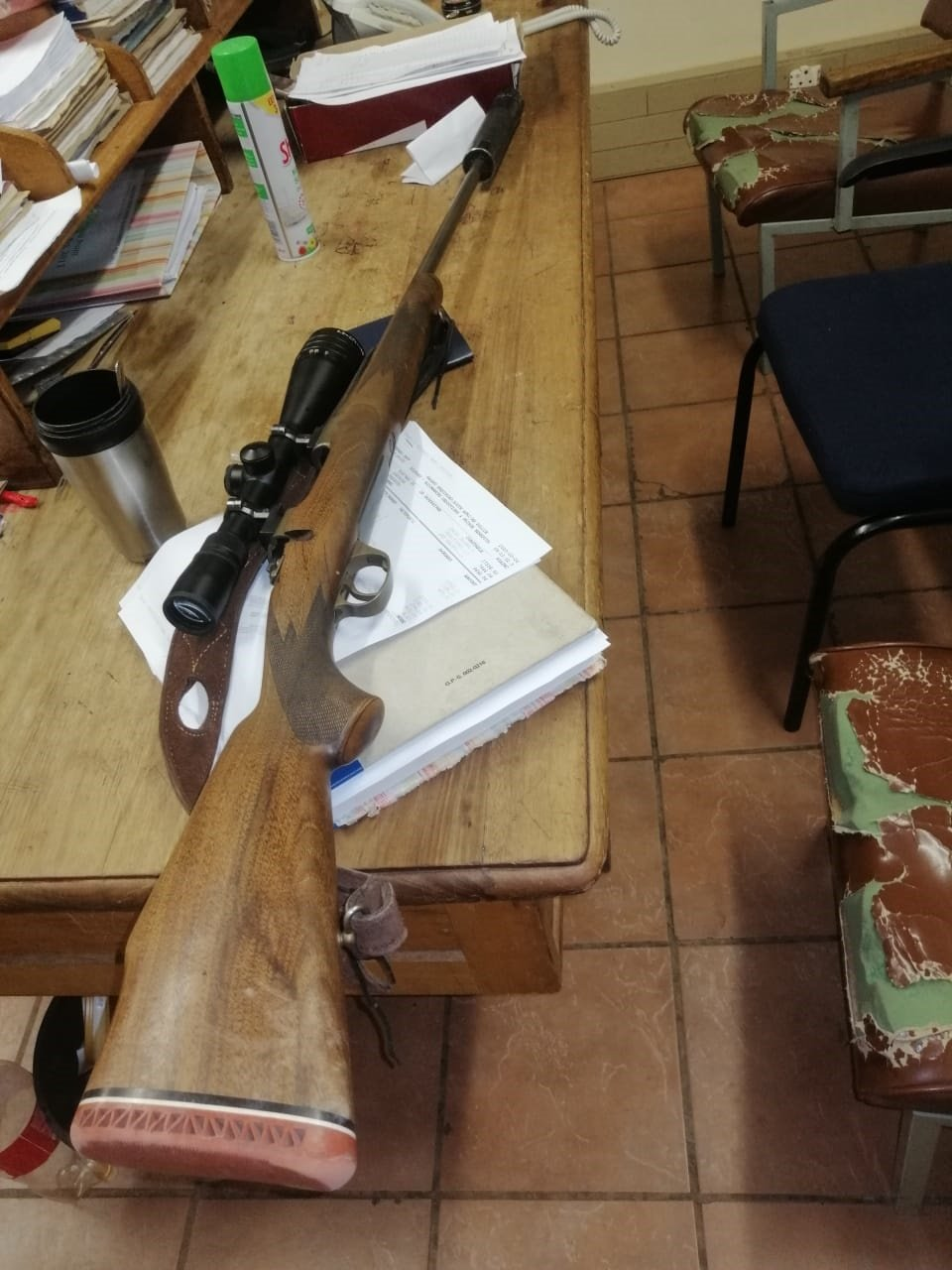 Five men were arrested for allegedly hunting illeg
