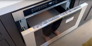 Lizzy Capri Shows Off Her High-Tech Kitchen With a Microwave Drawer