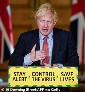 The team found that 38 per cent of the public — the so-called 'Trusting' are worried about the virus, but are trusting the UK Government's response. Pictured, Prime Minister Boris Johnson
