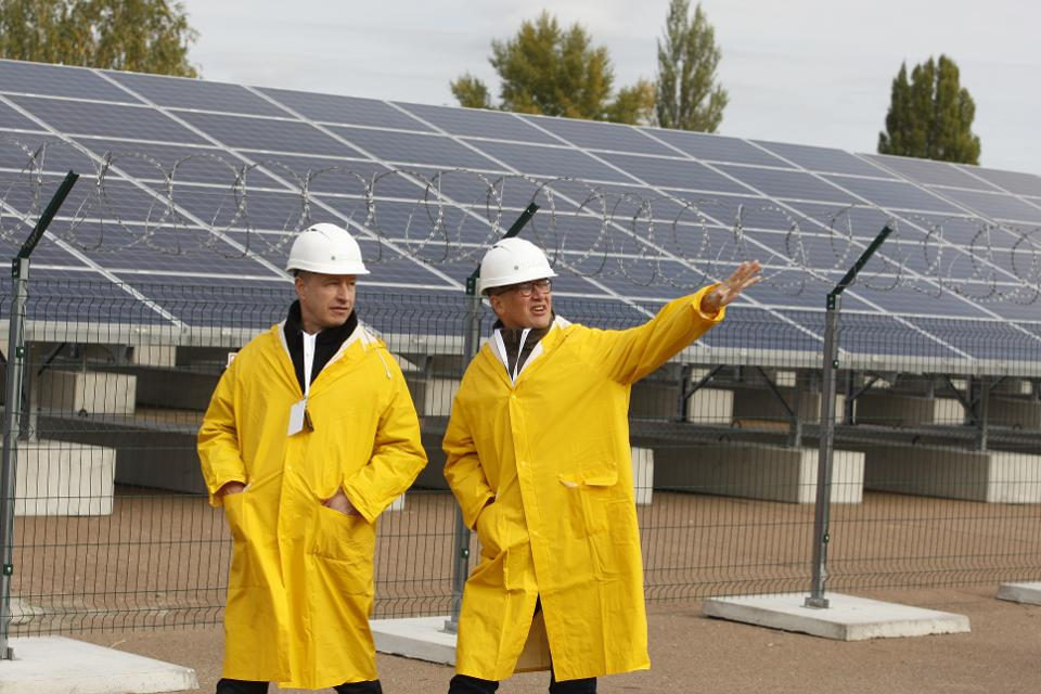 First Solar Plant in Chernobyl