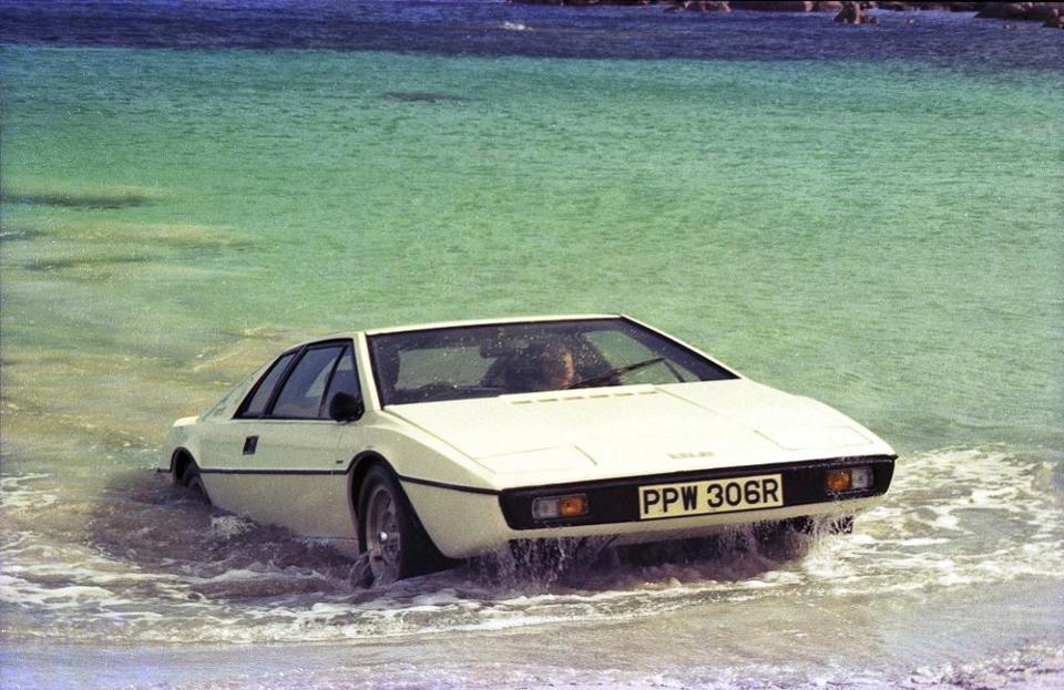 Italdesign Giugiaro's Lotus iconic Esprit S1 during the filming of James Bond