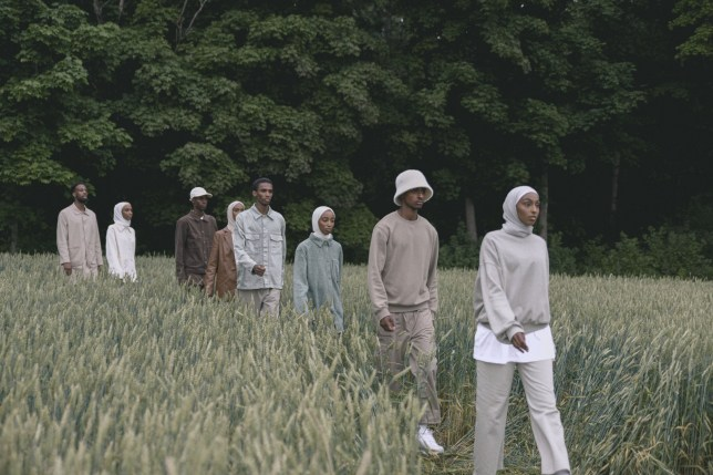 Somali people in a field showing off their fashion