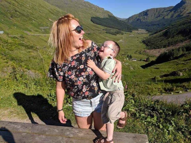 Stacey Corrigan's son Daniel Murray has Downs' syndrome (Picture: Stacey Corrigan)