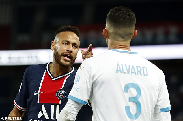 Neymar was among five players sent off after a brawl started during PSG's loss to Marseille