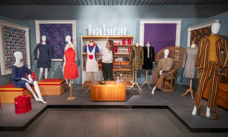 Clothes by the fashion designer Mary Quant and furniture by Terence Conran in the exhibition Mid-Century Modern: Art & Design from Conran to Quant, at the Dovecot Studios, Edinburgh, until January 2021.