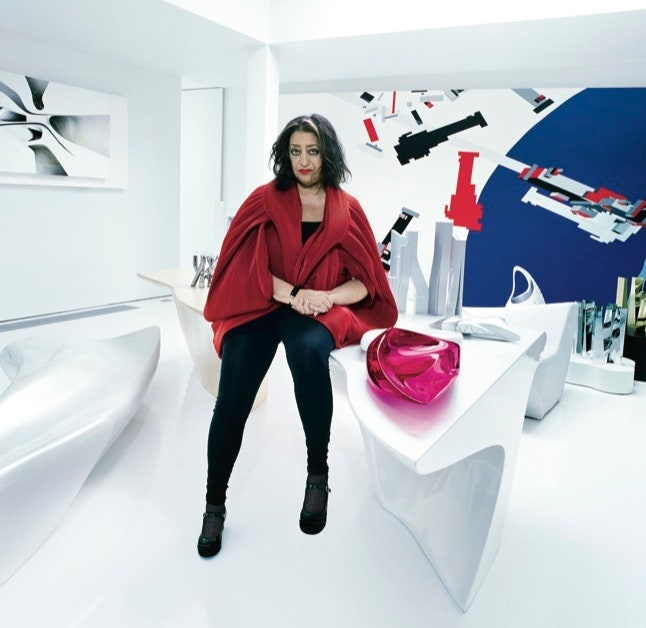 Hadid in her home