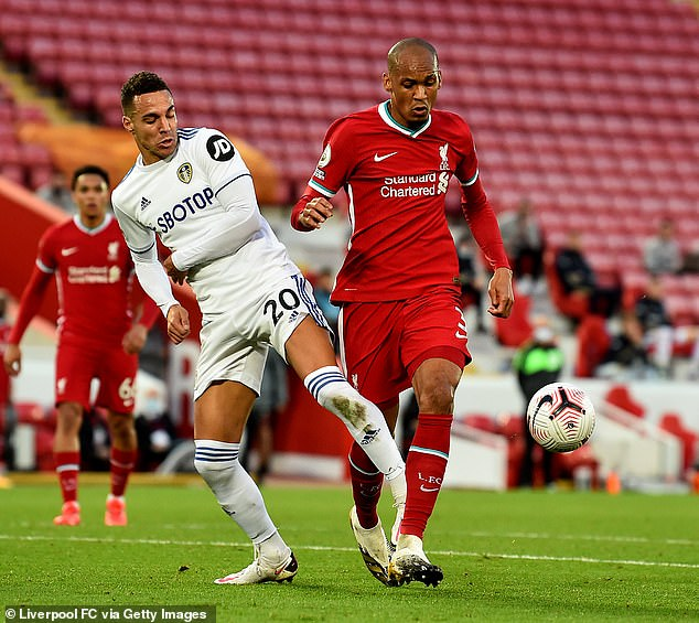 Rodrigo came off the bench for Leeds at Anfield but fouled Fabinho for Liverpool's late winner