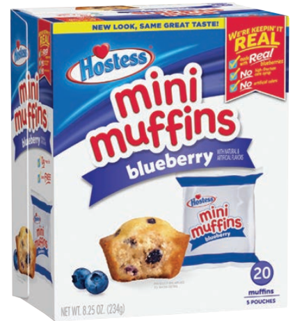 mini blueberry muffins from Hostess
