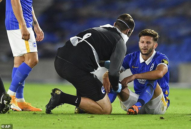 Adam Lallana gave the ball away for Chelsea's first goal and then came off injured for Brighton