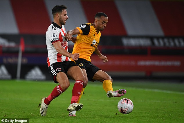 Marcal (R) enjoyed a steady debut for Wolves, defending well in their win at Sheffield United