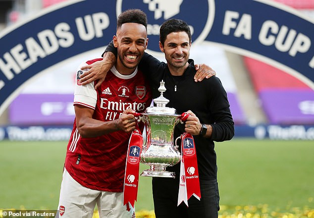 Aubameyang was coy over his long-term Arsenal future after their FA Cup win this year
