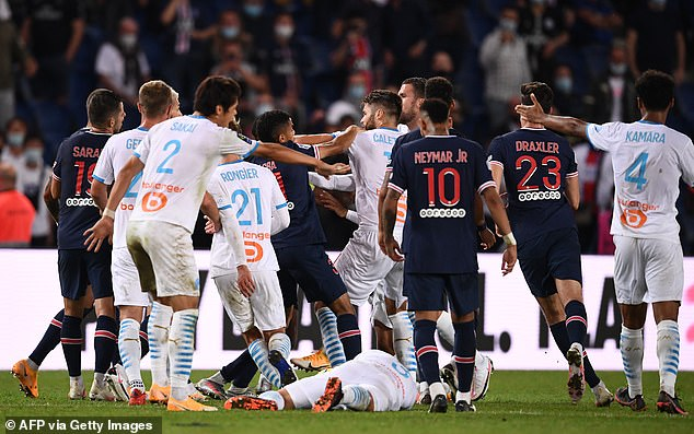 Marseille were able to cling on to their narrow advantage after the heated fracas to punish PSG