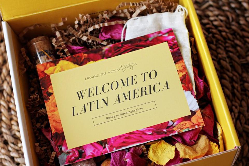 A subset of Around the World Beauty, founder Stephanie Flor has put out a beauty box series starting with a Latin American theme.