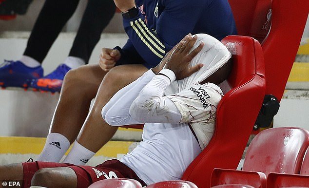 Lacazette was visibly upset after his second-half miss when he was substituted late on