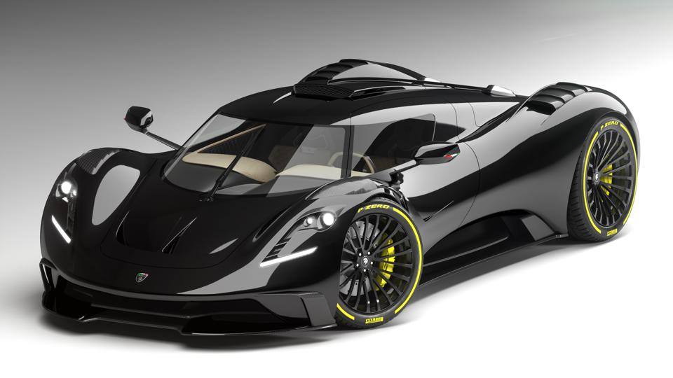 The Ares Design S1 Project uses under-body aerodynamics instead of a rear wing
